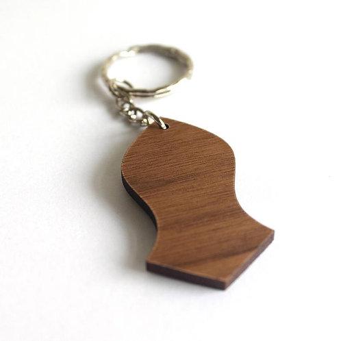 Nalain Keychain | Islamic Keyring | Nalayn Keyring | Wood Nalayn | Islam |