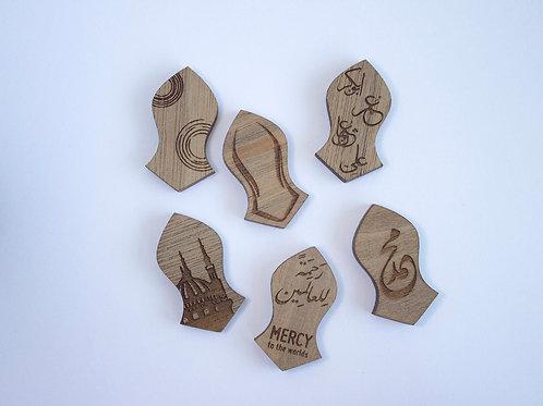 Engraved Nalain Pin | Nalayn Badge | Sandala Badge | Wood Nalain | Lapel Pin