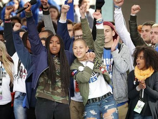 YOUNG VOTERS SHOWED UP AND SHOWED OUT