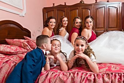 Bridal party bedroom