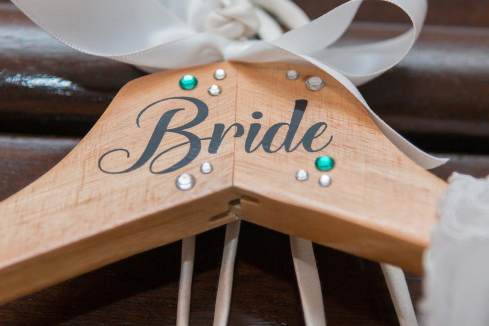 Bride clothes hanger