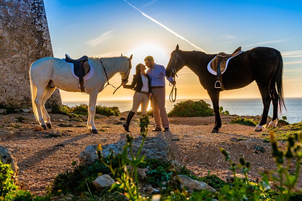 Pre wedding horses