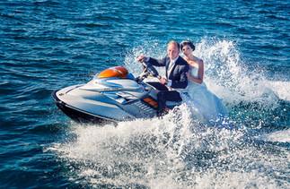 Jet ski couple