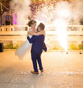 Wedding dance fireworks