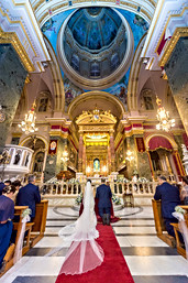 Church panorma wedding