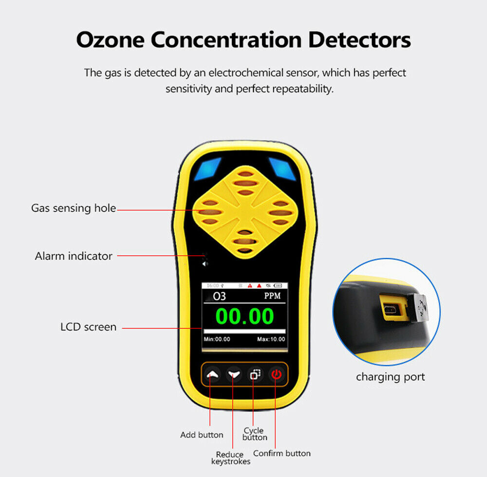 Ozone Detector 0 to 10PPM and Data Logge