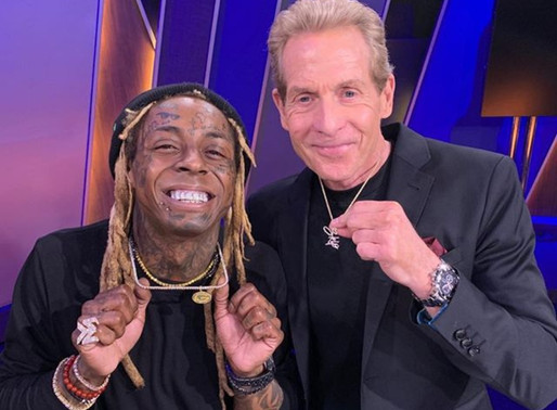 Watch: Lil Wayne stops by Undisputed talks LeBron, AD Lakers +More Gifted Skip $50,000 diamond chain