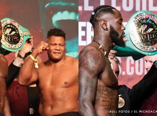 Watch: Final Weigh-In Deontay Wilder vs. Luis Ortiz Rematch | Heavyweight Boxing