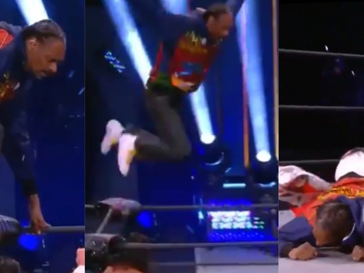 Snoop Dogg's AEW debut jumping from the top ropes
