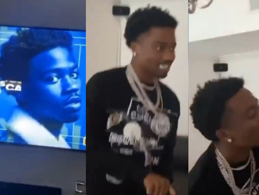 Watch Roddy Ricch Reaction at home watching himself winning Album of the Year #BetAwards2020