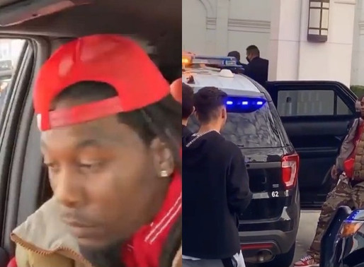 Offset was arrested today, but he's free now after a Trump Supporter bashed offset's window
