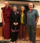 with Maha Elgenaidi, Rabbi Diane Elliot and Pastor Steve Harms at an interfaith retreat