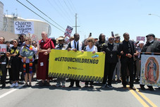 clergy action at a detention center at the Mexican border summer 2018, during the child separation incident