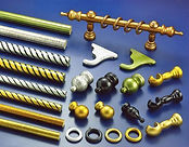 Curtain poles and fittings (example only - not stock)
