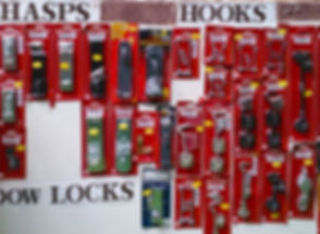 Hasps, hooks and locks