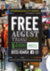 August free stall rental poster