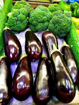 Broccoli and aubergines