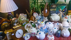 China pots and mantlepiece clocks