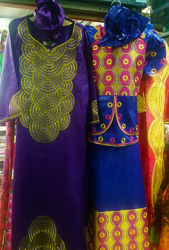 Brightly Coloured African Dresses