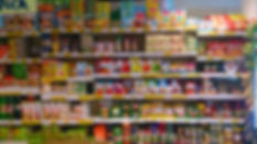 Groceries packets and cans