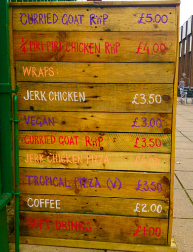 Embe external wooden menu board