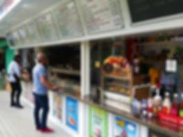 Long Shot of City Market Diner Front