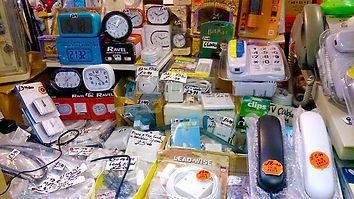Landline phones and small clocks