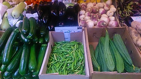 Vegetables display
