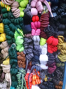 Varied colour shoe laces