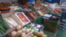 Fruit & Veg front of stall vegetables display