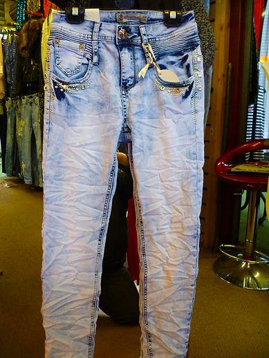 Designer-creased jeans
