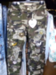 Camouflage combat jeans