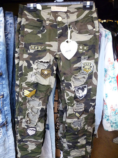 Camouflage combat jeans