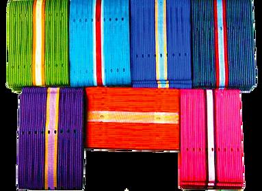Varied coloured cloth