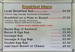Breakfast Menu Prices