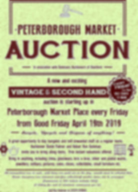 friday auction poster