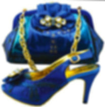 Blue Handbag and matching shoes