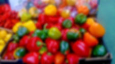 Green, red, yellow and orange peppers