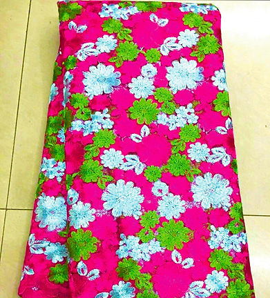 Pink white and green floral skirt