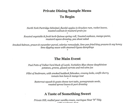 Private Dining at The Private Hill