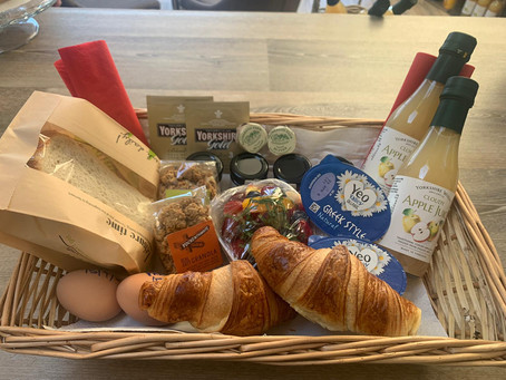 Breakfast Basket for Two included