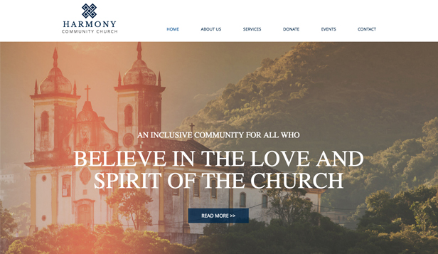 Religion Non Profit Website Templates Community Education Wix - Church website templates