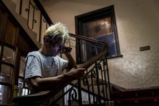 Mickael souffrait d'une addiction à la crystal meth. Il est décédé d'une overdose quelques semaines après cette photo.  Janvier 2017.