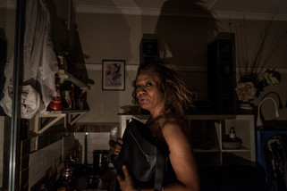 """Charleze, 50 , spent 2 years at the Gatwick, """"her home sweet home"""". She found an apartment near Saint Kilda after the Gatwick shutdown. January 2016."""