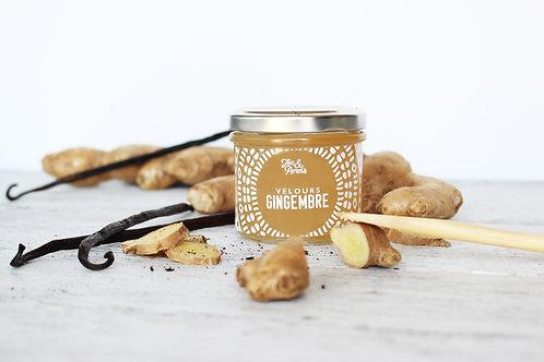 Pot de confiture de gingembre pour tartinable sucrée