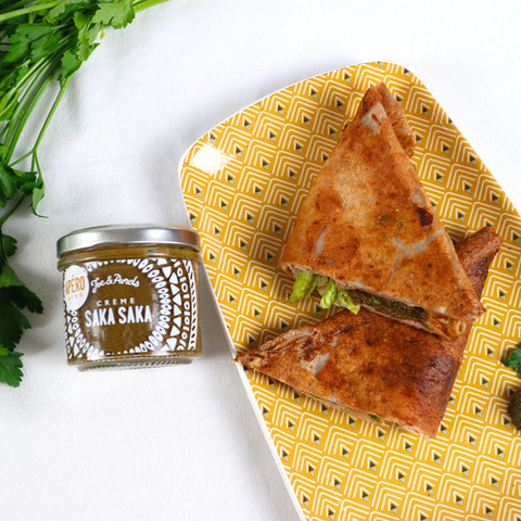 Galettes de jambon & fromage à la Crème Saka-Saka.