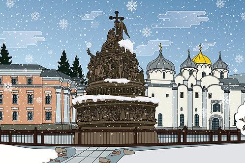 "Тур ""Рождество в Великом Новгороде"" 3 дня / 2 ночи"