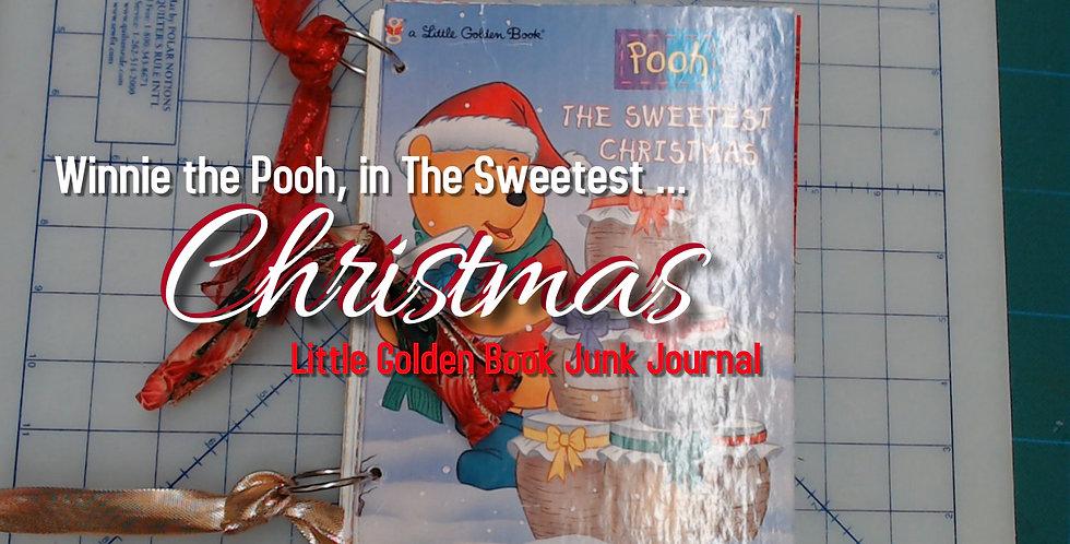 Vintage POOH Little Golden Book Junk Journal!