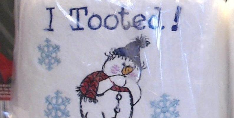 """""""Toot"""" Snowman"""
