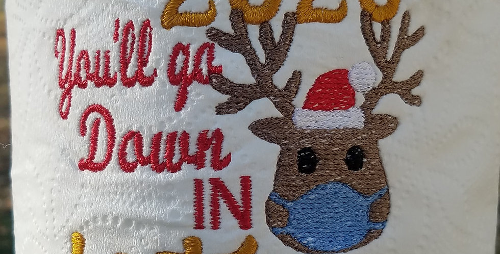 2020 Christmas EMBROIDERED You'll Go Down in History Toilet Paper Christmas Gift